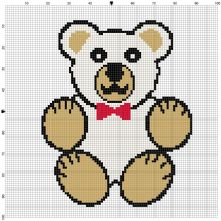 Beginner's Teddy Bear Counted Cross Stitch Sewing Kit